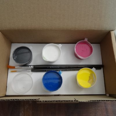 Acrylic paint kit.