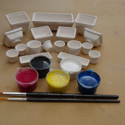 Mini pot painting kit